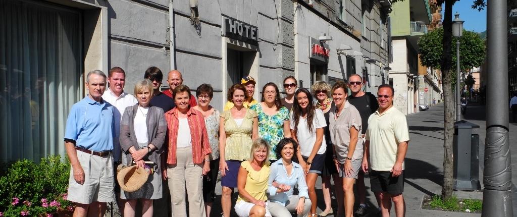 Salerno Group of visitors Souvenir Picture